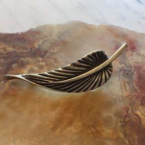 Zina Eva Jewelry - Zina Eva Sterling Silver Leaf Pin 925